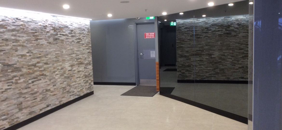 after internal shot of foyer entry